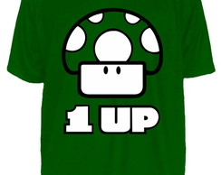 Camiseta Cogumelo Super Mario Bros 1 Up