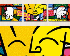 Quadro Decorativo The Hug - Releitura