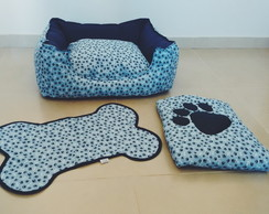 Kit Cama+Tapete+Edredom Pet DogChamp M