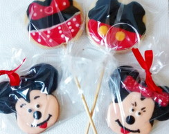 Mickey e Minnie Biscoitos Decorados