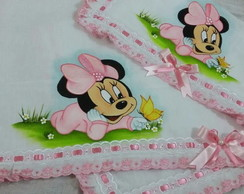 Kit de fraldas Minnie Rosa