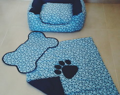 Kit Cama+Tapete+Edredom Pet DogChamp P