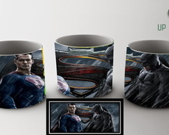 caneca de porcelana batman x superman