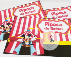 Rotulo Pipoca Microondas Circo do Mickey