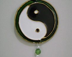 Mini mandala Yin Yang com borda - MP-30