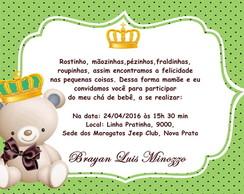 Convite Personalizado Chá De Bebê Elo7