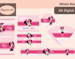 Kit digital p/ personalização Minnie Ros