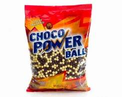 Choco Power Mini Ball Leite Branco 500g
