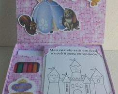 Caixa kit colorir com cards