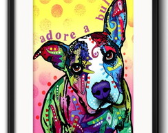 Quadro Pitbull Pop Art com Paspatur