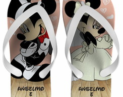 Chinelo Casamento Mickey e Minnie.