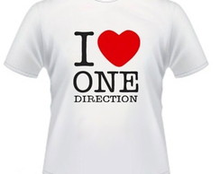 Camiseta I love one direction 100% Algod
