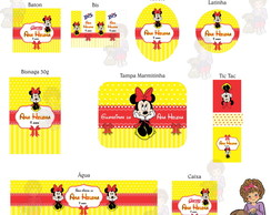 Kit digital minnie amarela