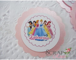 Tag Scrap Princesas Disney
