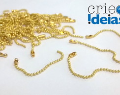 100 Correntes p/ TAG - 1,5mm c/ 5cm OURO