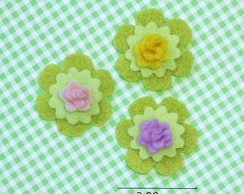 Mini rosa com base verde (pc c/3)