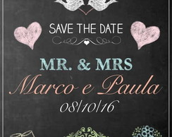 Chalkboard save the date- arte digital