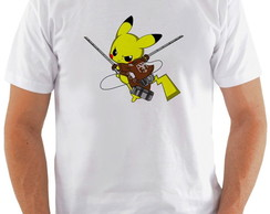 Camiseta Pikachu Attack on Titan