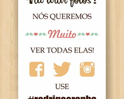 Placa Hashtag - Digital