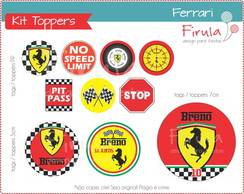 Kit Digital Toppers Ferrari