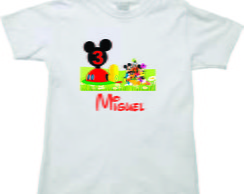 Camiseta personalizada da Turma do Mickey
