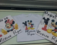 Kit Camiseta Mickey
