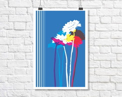 Poster Placa Kansas Flowers