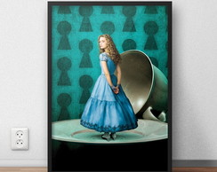 "Poster ""Alice in Wonderland"" com moldura"