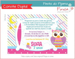 Convite Digital Festa do Pijama Coruja