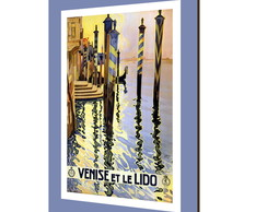 Placa decorativa vintage Venice