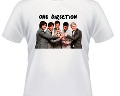 Camiseta One Direction 100% Algodão
