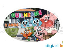Placa - Painel - Oval - Gumball - 70cm