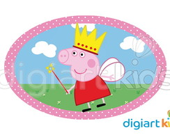 Placa - Painel - Oval - Peppa - 70cm