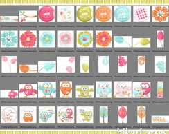 Kit Scrapbook Digital Tema Corujinha