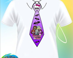 Camiseta Gravata Monster High