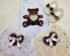 Kit Ursinho Animal Print