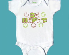 T-Shirt Bebê e Infantil BE HAPPY FBS