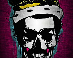 QUADRO DECORATIVO BORN 2 B SKULL FREDDY
