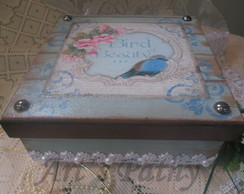 Porta Joias Bird Blue