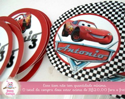 Topper p/ Cupcakes Carros Disney 6x6