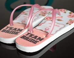 Chinelo Personalizado Team Bride