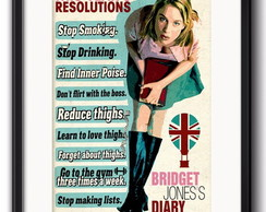 Quadro Bridget Jones Frases com Paspatur