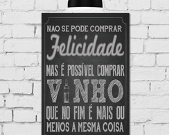 Placa Decorativa MDF 20x30 Giz Vinho