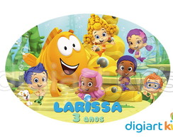 Placa - Painel - Bubble Guppies - 70cm
