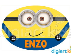 Placa - Painel - Oval - Minions - 70cm