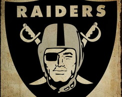 Placa Decorativa NFL - Raiders