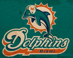 Placa Decorativa NFL - Miami Dolphins