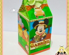 Caixa Milk personalizada Mickey Safari
