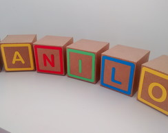 Cubo e letra 8 cm - Toy Story