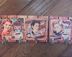 "Cabideiro "" Retro Pin up Café"""